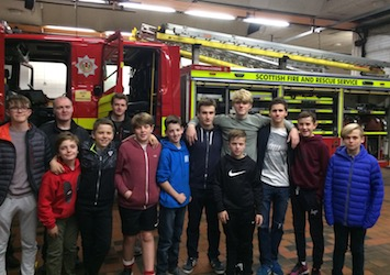 The Boys & Staff at Cowcaddens Fire Station