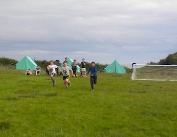 the tents and pitch at Camp 2017